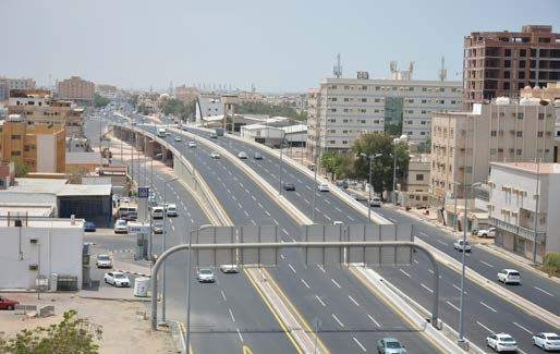 Bridge and Underpass of Prince Majed Road with Old Mecca Road – Jeddah