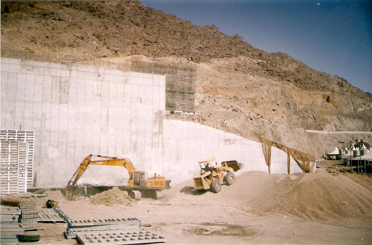 Mena Retaining Walls – Makkah