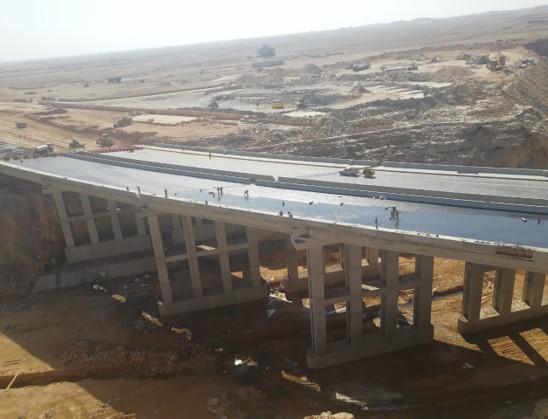 Construction Bridge at Imam Moslim with Wadi Baqra – Riyadh