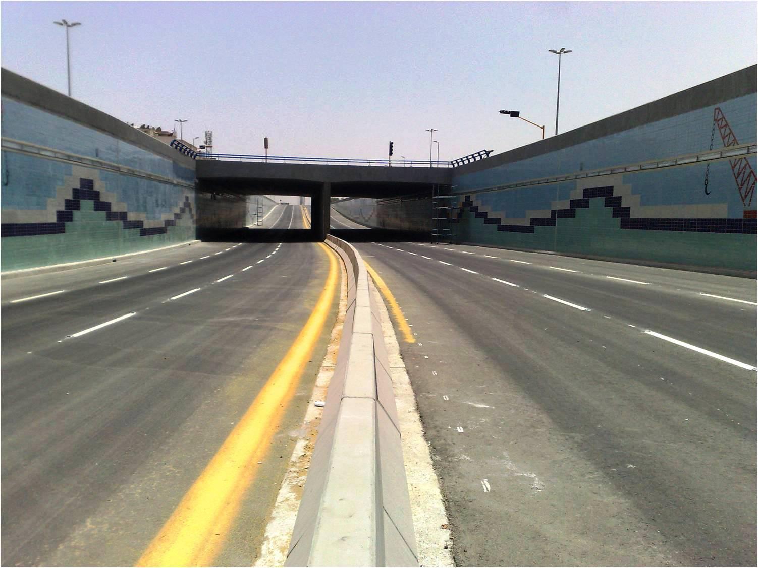 Underpass of King Abdulaziz with King Faisal – Dammam