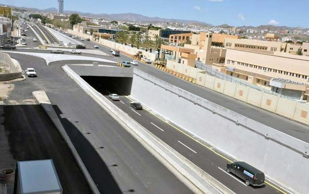 Underpass of King Khaled Rd with Prince Mansour Hospital Road