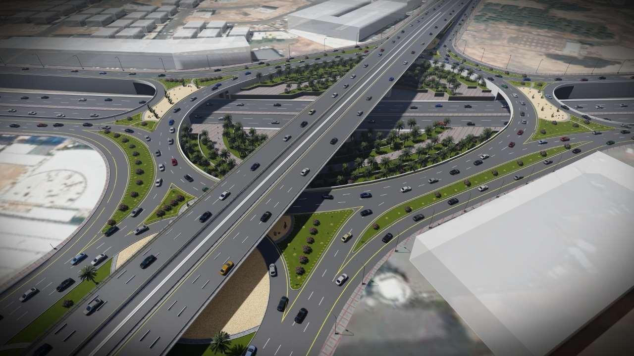 مشروع إنشاء وتنفيذ جسر عند تقاطع طريق الملك عبدالعزيز مع طريق الملك عبدالله بن عبدالعزيز(مرحلتين)