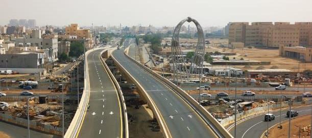 Construction of Bridge at King Fahad road with sari st.